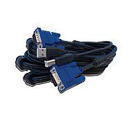 Cabo KVM USB 2 em 1 - DKVM-CU