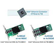 Placa de rede XL710-QDA2 10GbE / 40GbE PCIe 3.0 x8 (8 GT/s)  (PRAZO...