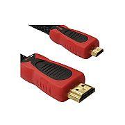 Cabo HDMI-Micro / HDMI em Nylon Coral 3m