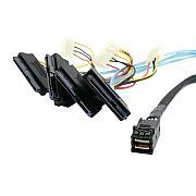 Cabo Mini SAS 12GB SFF-8643 x 4 SAS SFF-8482 (Prazo médio de envio:...