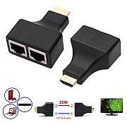 Adaptador HDMI (M) x Dual RJ45 (F) 1080p HDTV HDPC PS3 STB