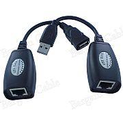 Adaptador USB x RJ45 repetidor - Envia sinal USB até 45m