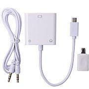 Adaptador Micro USB MHL x VGA Femea c/ Audio