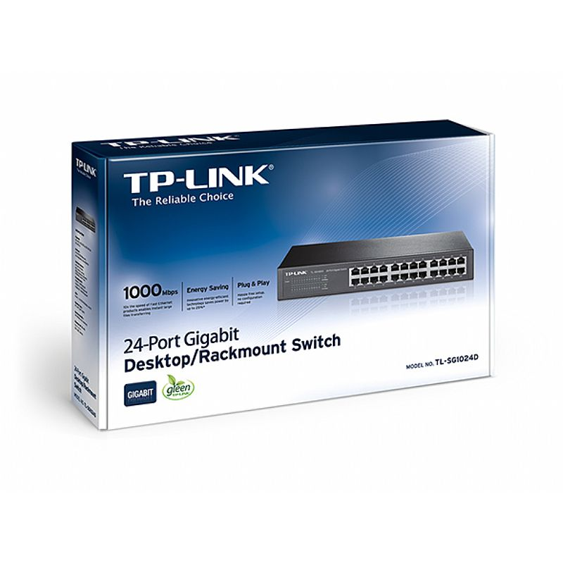 Switch TP Link TL-SG1024D 24p 10/100/1000 Rack