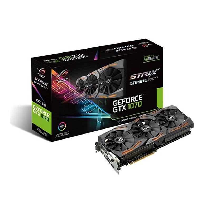 Placa de Video GF 8GB GTX 1070 Strix DDR5 1632Mhz 256 Bits 1920 CUDA...