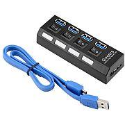 Hub USB 3.0 4 portas USB M-6404